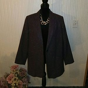 Purple tweed coat